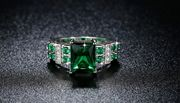 Green Sapphire Ring - 4 Sizes