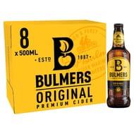 8 X 500ml Bottles of Bulmers Original Cider £7 / 87.5p Each