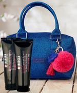 Morgan Glitter Bowling Bag with Pom Pom Charm