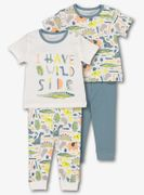 Multicoloured Dinosaur Safari Pyjamas 2 Pack (0-24 Months)