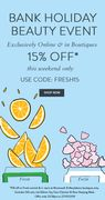 15% off Fresh Beauty Event - Starts Now!