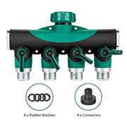 Calish 4 Way Garden Hose Splitter,