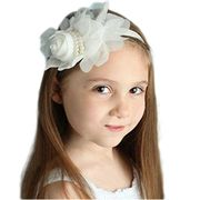 Tonsee 1PCS Rhinestone Angel Girls Baby Pearl Flowers Hairband