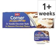 Muller Corner Yogurt Vanilla & White Chocolate/ Banana & Milk Chocolate