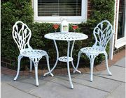 SAVE £25 - Charles Bentley Tulip Bistro Table and Chairs Set **4.5 STARS**