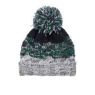 River Island Mini Boys Green Knit Stripe Beanie Hat - Save £2