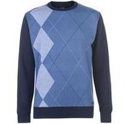 Pierre Cardin Argyle Crew Knit Mens