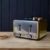 Dunelm Gold Effect 4 Slice Toaster FREE C&C - Save £6
