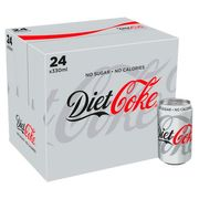 Diet Coke 24 X 330Ml Pack at Tesco Down From £8 to £6.5