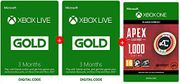 Xbox Live 3 Month Gold Membership + 3 Months for £14.99