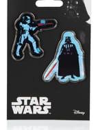 Star Wars Set of 2 Badges - Darth Vader & Storm Trooper