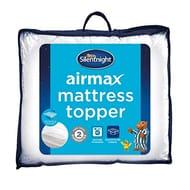 Silentnight Airmax Mattress Topper, Polyester, White, Double