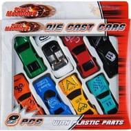 8 Pcs Die Cast Racing Car Vehicles