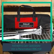 Win a Personalised BBQ Kit for Your Dad This Father's Day!
