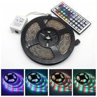 5M RGB Color Changing Led Strip Light Kit + 24key IR Remote Controller