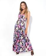 Bohemian Print Knot Front Maxi Dress