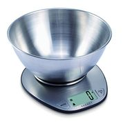Weighing Scale with Stainless Steel Mixing Bowl - 5 Kilogram / 11 Pound