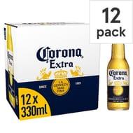 Corona Extra Premium Lager Beer Bottles 12x330ml