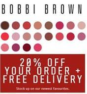 B O B B I  B R O W N - 20% off All Orders + Free Delivery!