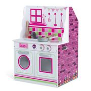 Plum 2-in-1 Wooden Dolls House & Kitchen with Utensils £25 Delivered
