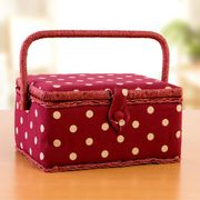 Sewing Box Rectangle - Dotty Red