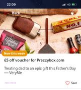 £5 Vouchers off at Prezzybox VERY ME REWARDS