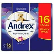 Andrex Supreme Quilts 16pk £5