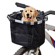 Bicycle Bike Detachable Cycle Front Canvas Basket Carrier Pet Carrier