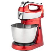 VonShef 400W 2 in 1 Red Hand & Stand Mixer