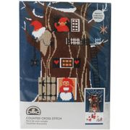 Tomte Tree House Cross Stitch Kit