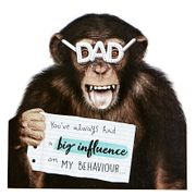 VIP Collection Father's Day Card - Dad, Monkey in Glasses
