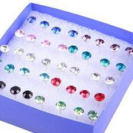 20 Pairs Rhinestone Earrings