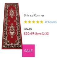 Shiraz Carpet Runner 67 X 200cm **4.8 STARS** (Several Colours)