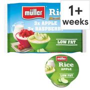 Muller Rice Raspberry and Apple Dessert 6 X 180g