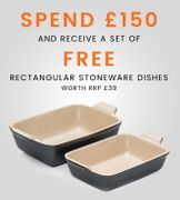 Le Creuset - Free Stoneware Set This Weekend when you spend £150