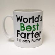 Worlds Best Farter ~ Mean Father ~ Fathers Day Gift ~ Dad Mug ~