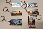 6 Pcs 3D I Love London England Souvenirs Gifts Metal Keyring by Deal Box