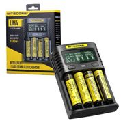 Nitecore UM4 USB Quadro 4 Slot Battery Charger for AA, AAA AAAA Batteries