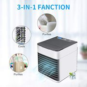 Oenkeise 3 in 1 Portable Air Cooler Fan Humidifier Purifier Mini USB Desktop Fan