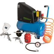 Draper 24L Oil-Free Air Compressor & 5pc Air Tool Kit 230V at Toolstation