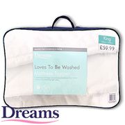 Dreams Loves to Be Washed Mattress Topper Kingsize at Home Bargains 67%off