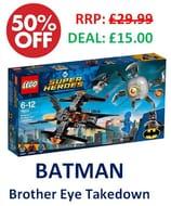 1/2 PRICE! LEGO 76111 - BATMAN Brother Eye Takedown