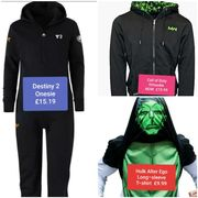 Clothes from £3.99 - £46.99. Onesies , T-Shirts, Coats , Jackets etc...