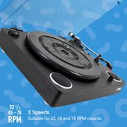 Jam Play Turntable Vinyl Record Player, 3 Speed Belt Drive £39.99 with Voucher