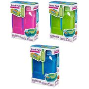 Sistema Snack Pack Food Storage - Assorted Colours