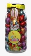 Farhi Foiled Easter Eggs and Bunny Jar