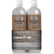 BED HEAD for Men Clean up Duo Shampoo & Conditioner for Normal Hair 2x750 Ml