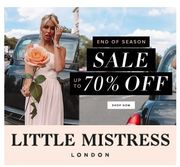Up to 70% off SALE at LITTLE MISTRESS