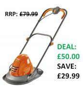 ONLY £50! SAVE £29.99 - Flymo Turbo Lite 250 Electric Hover Lawnmower