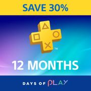 PlayStationPlus: 30% off 12 Month Membership - save £15
